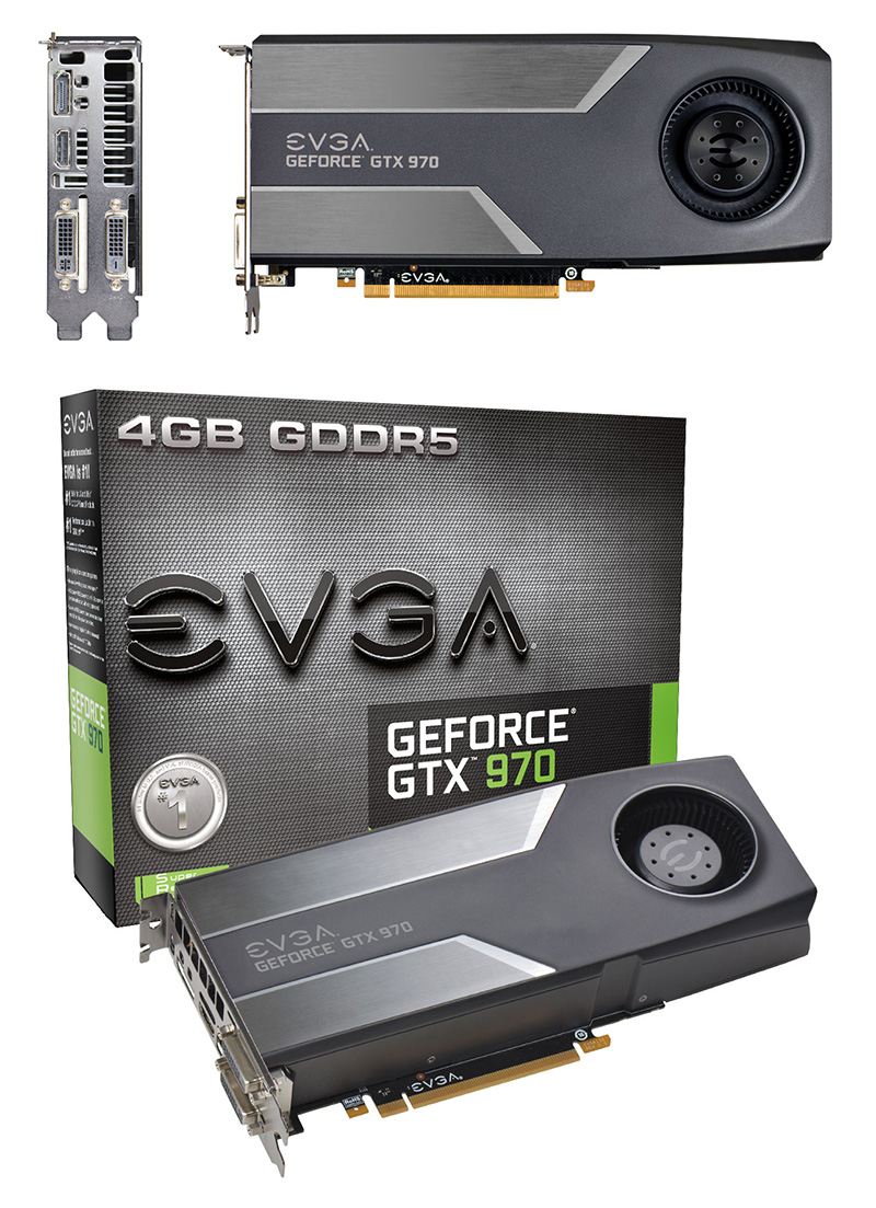 EVGA GeForce GTX 970 4GB [04G-P4-1970-KR] : PC Case Gear