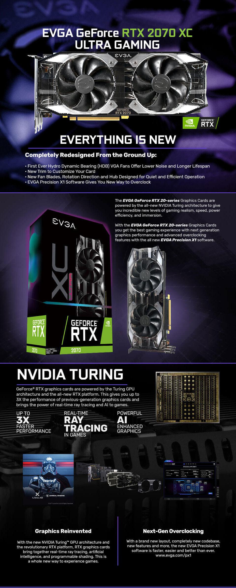 EVGA GeForce RTX 2070 XC Ultra Gaming 8G [08G-P4-2173-KR