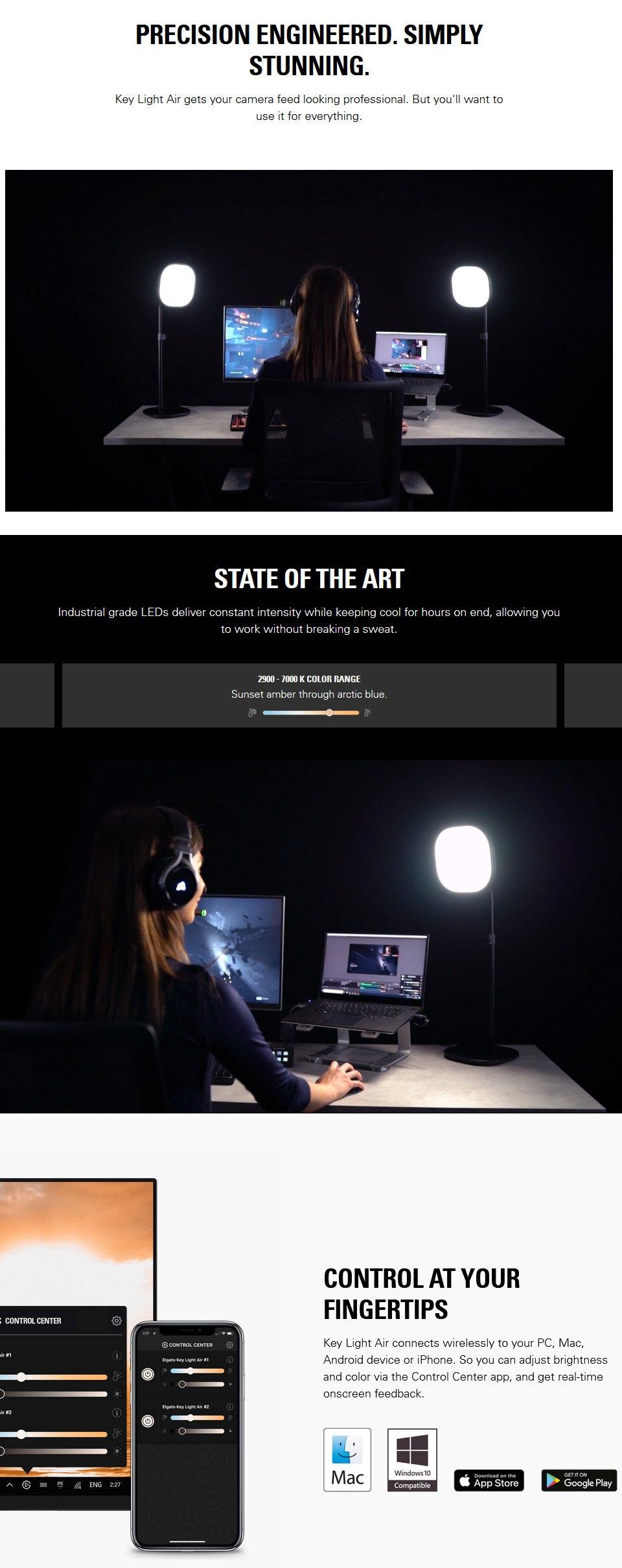Elgato Key Light Air LED Panel features