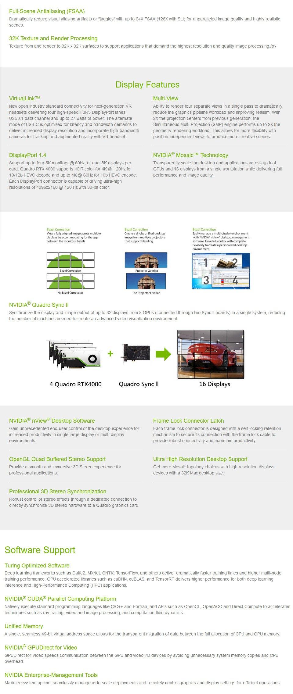 Leadtek Quadro RTX 4000 8GB features 2