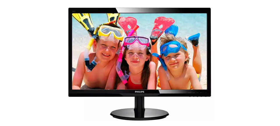 Philips 246V5LHAB FHD 24in Monitor with Speakers product