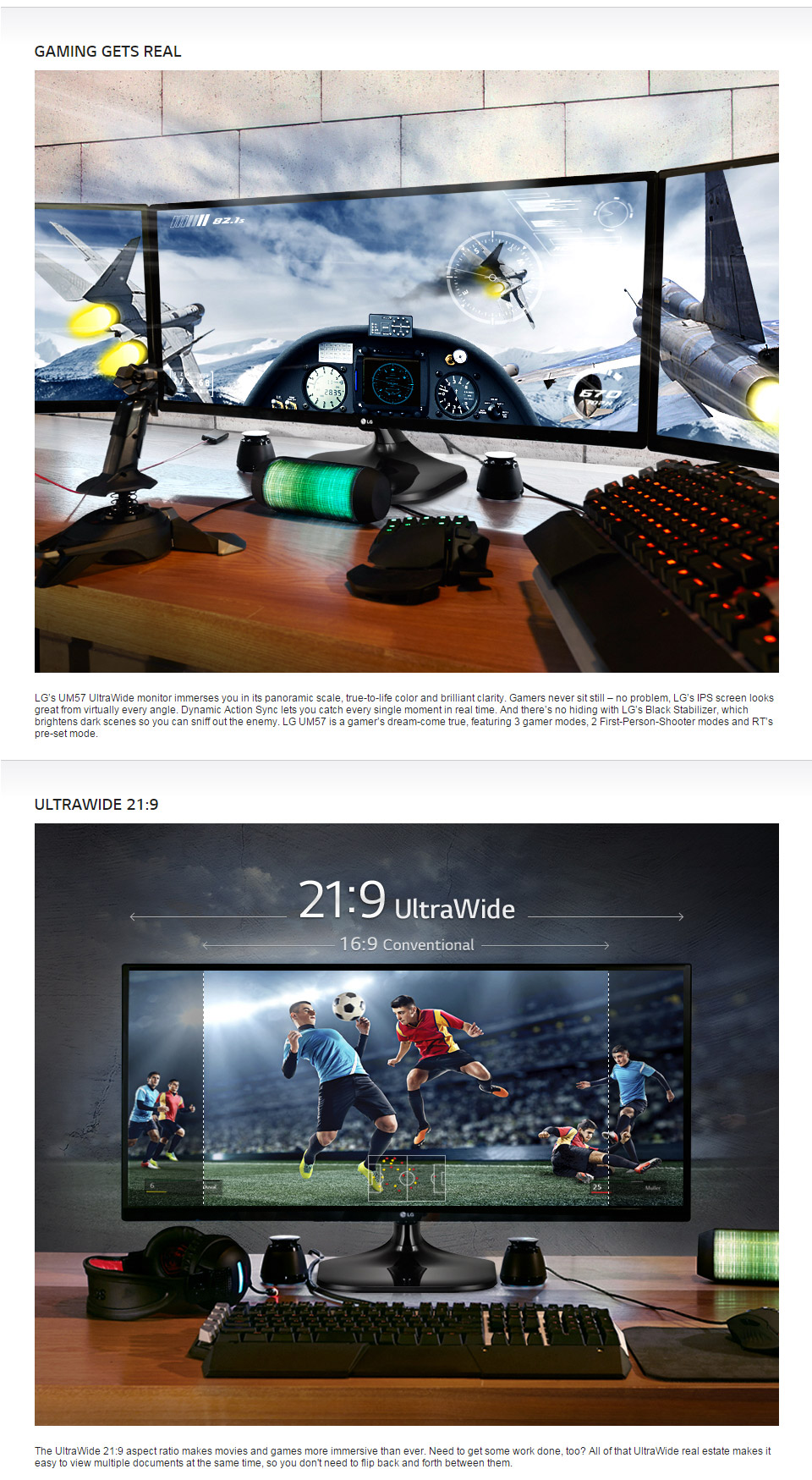 LG 25UM57-P 25in Ultrawide IPS LED Gaming Monitor [25UM57-P