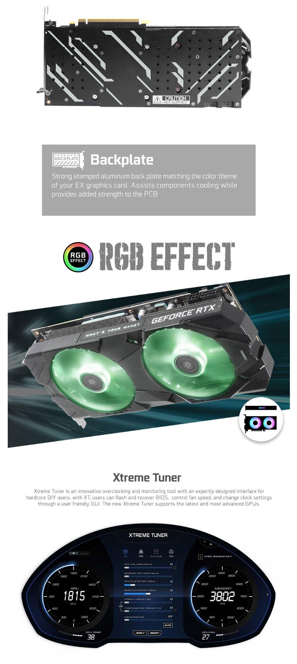 Galax GeForce RTX 2070 Super EX OC 8GB features 2