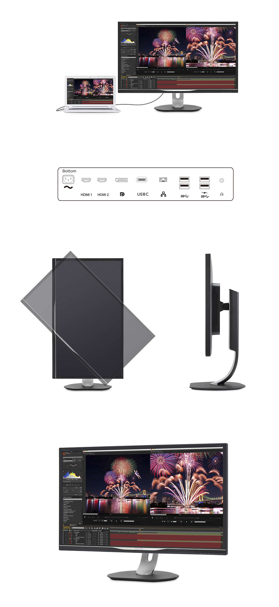 Philips 328P6VUBREB UHD HDR 32in Monitor with USB-C product