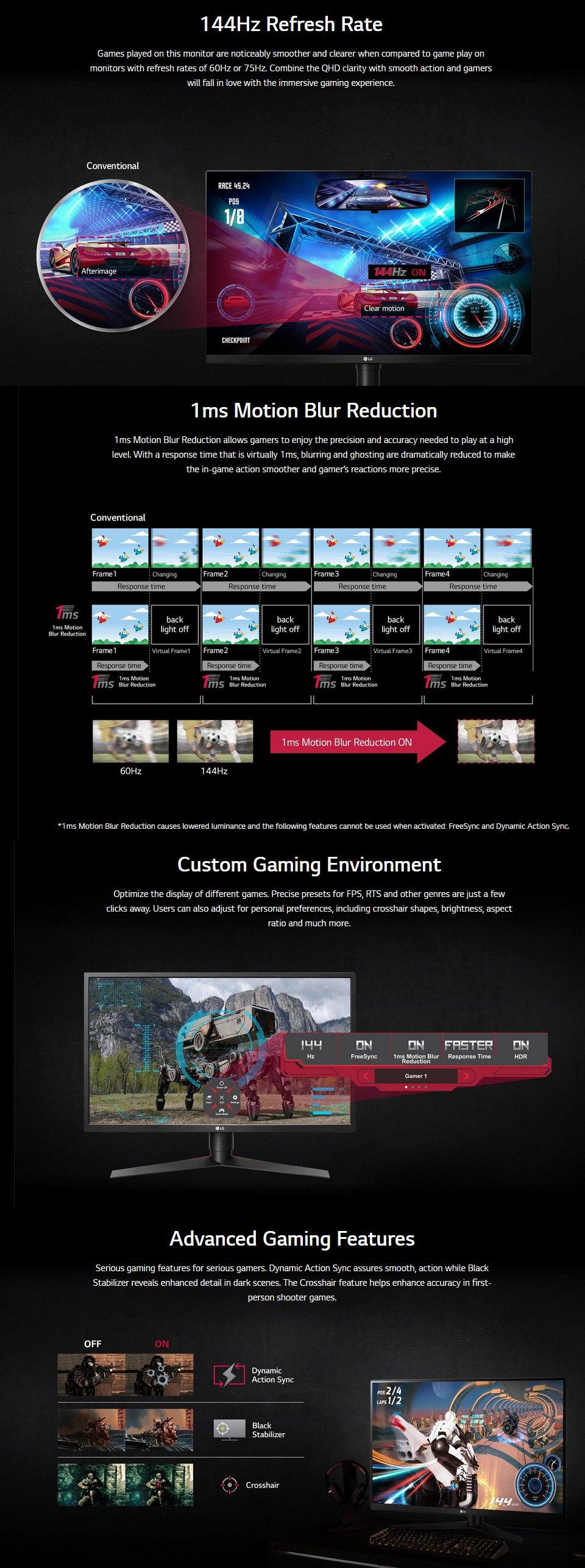 LG UltraGear 144Hz QHD 32in Monitor features 2