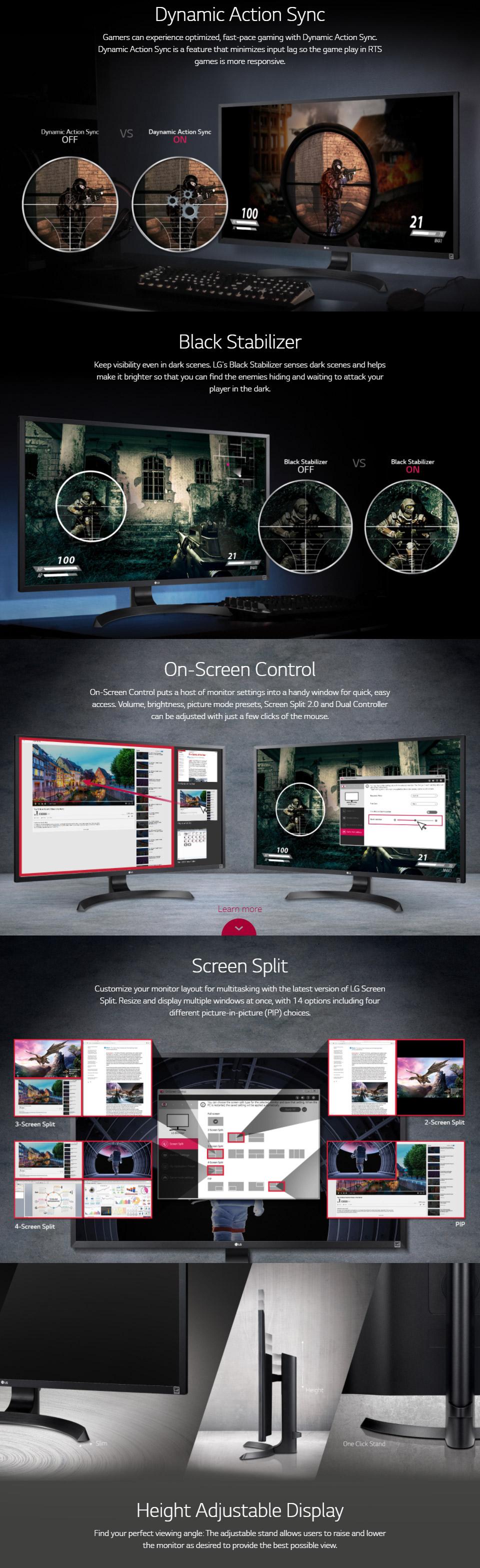 LG 32UD59-B 32in 4K UHD LED Monitor [32UD59-B] : PC Case Gear