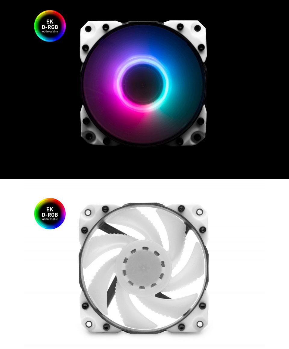 EK Vardar X3M 120ER D-RGB white 120mm fan product