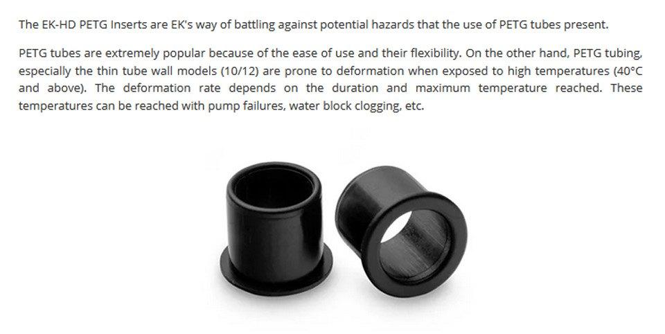 EK HD PETG Insert 10/12mm 10pce features