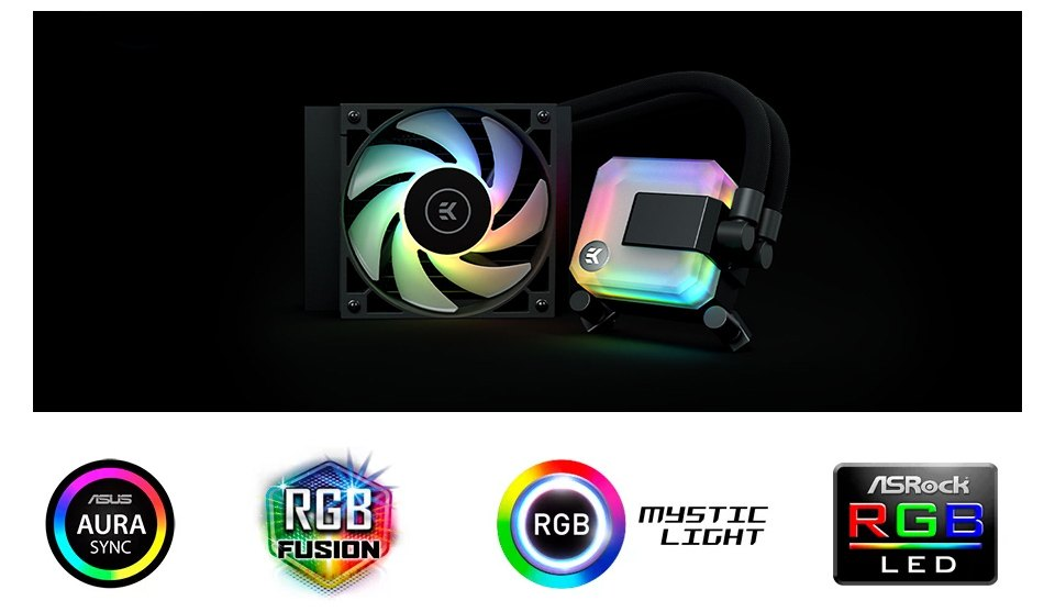 EK Waterblocks AIO Liquid CPU Cooler 120mm D-RGB features
