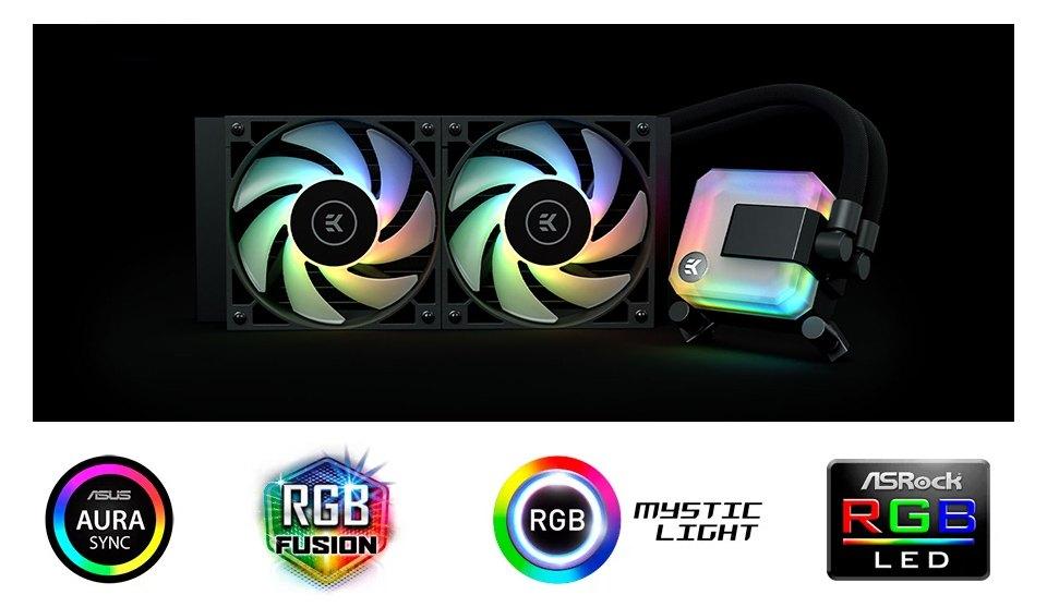 EK Waterblocks AIO Liquid CPU Cooler 240mm D-RGB features