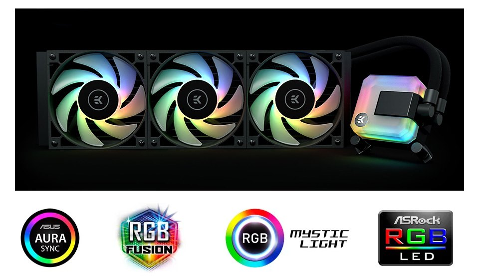 EK Waterblocks AIO Liquid CPU Cooler 360mm D-RGB features