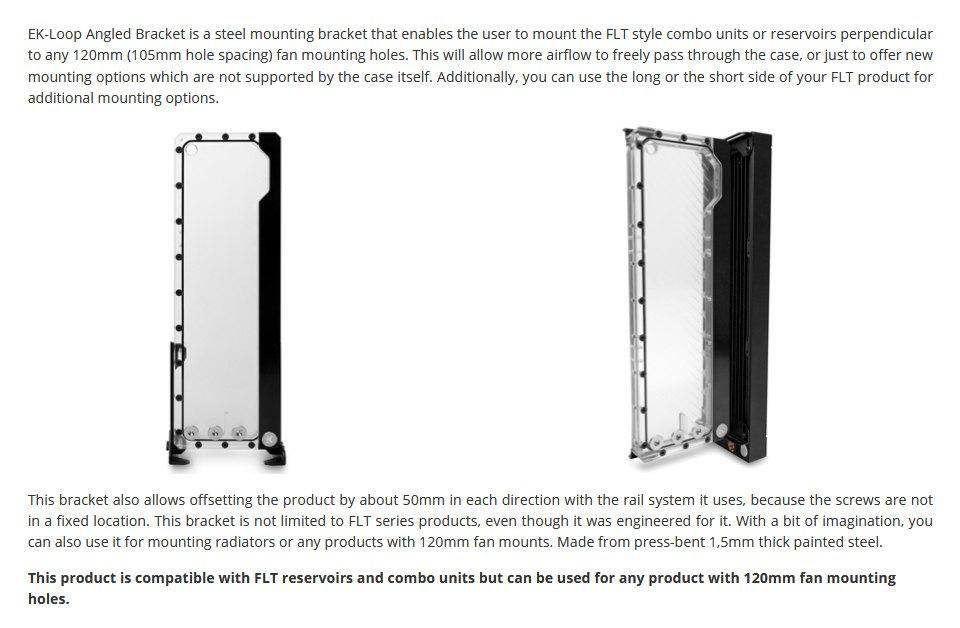EK Loop Angled Bracket 120mm features
