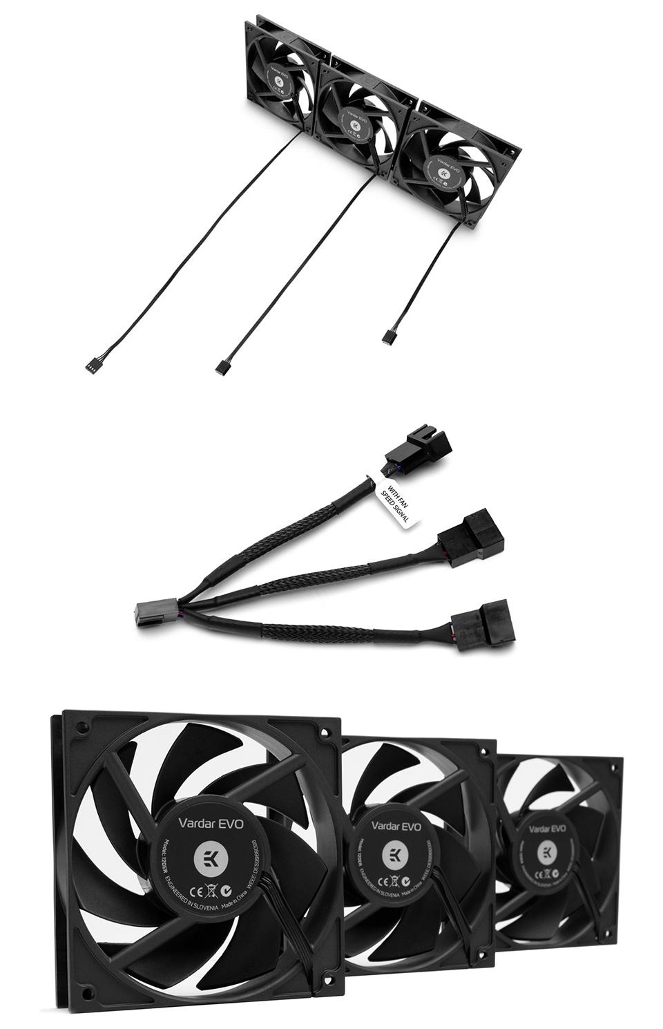 EK Vardar EVO 120ER Black BB 120mm Fan Triple Set product