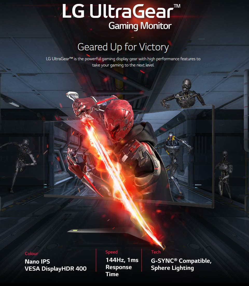 LG 38GL950G-B QHD+ 144Hz G-Sync HDR 38in Monitor features