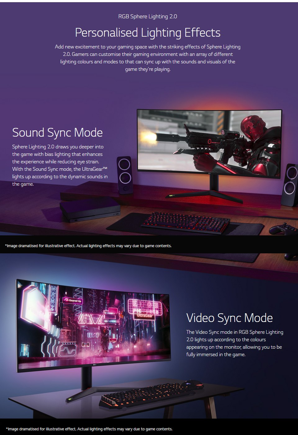 LG 38GL950G-B QHD+ 144Hz G-Sync HDR 38in Monitor features 5