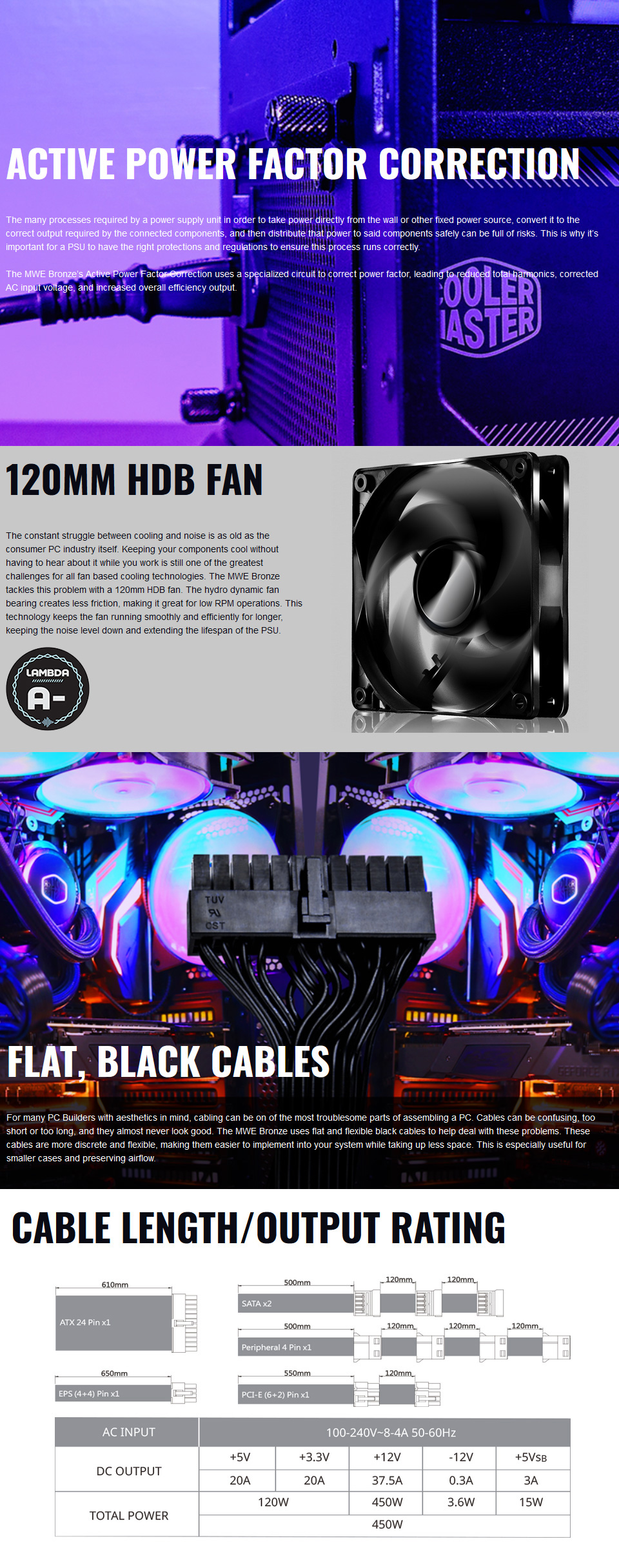 Cooler Master MWE Bronze V2 450W Power Supply features 2