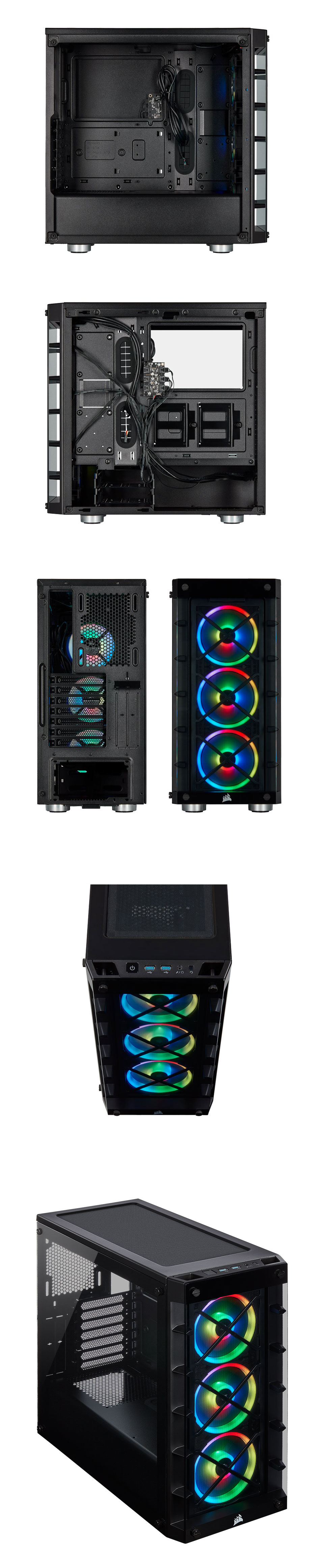 Corsair iCUE 465X RGB Tempered Glass Case Black product