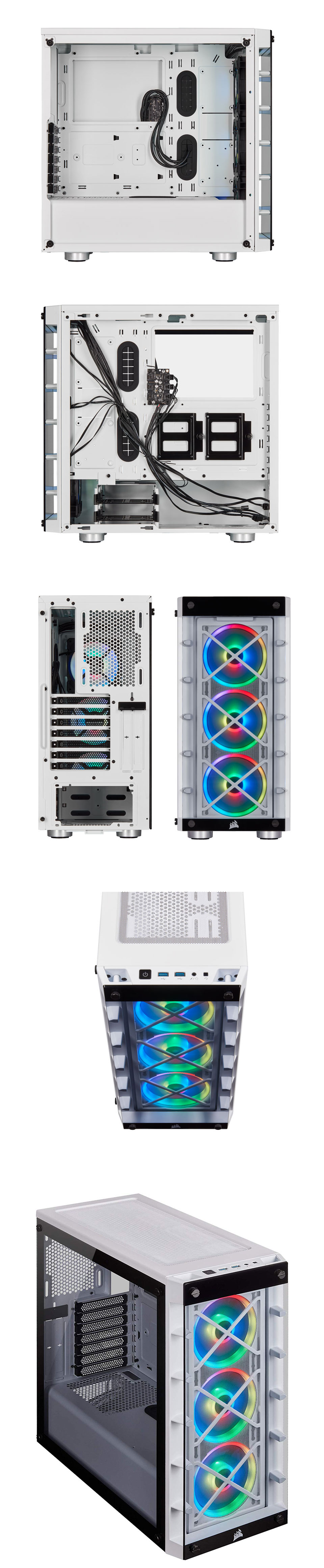Corsair iCUE 465X RGB Tempered Glass Case White product