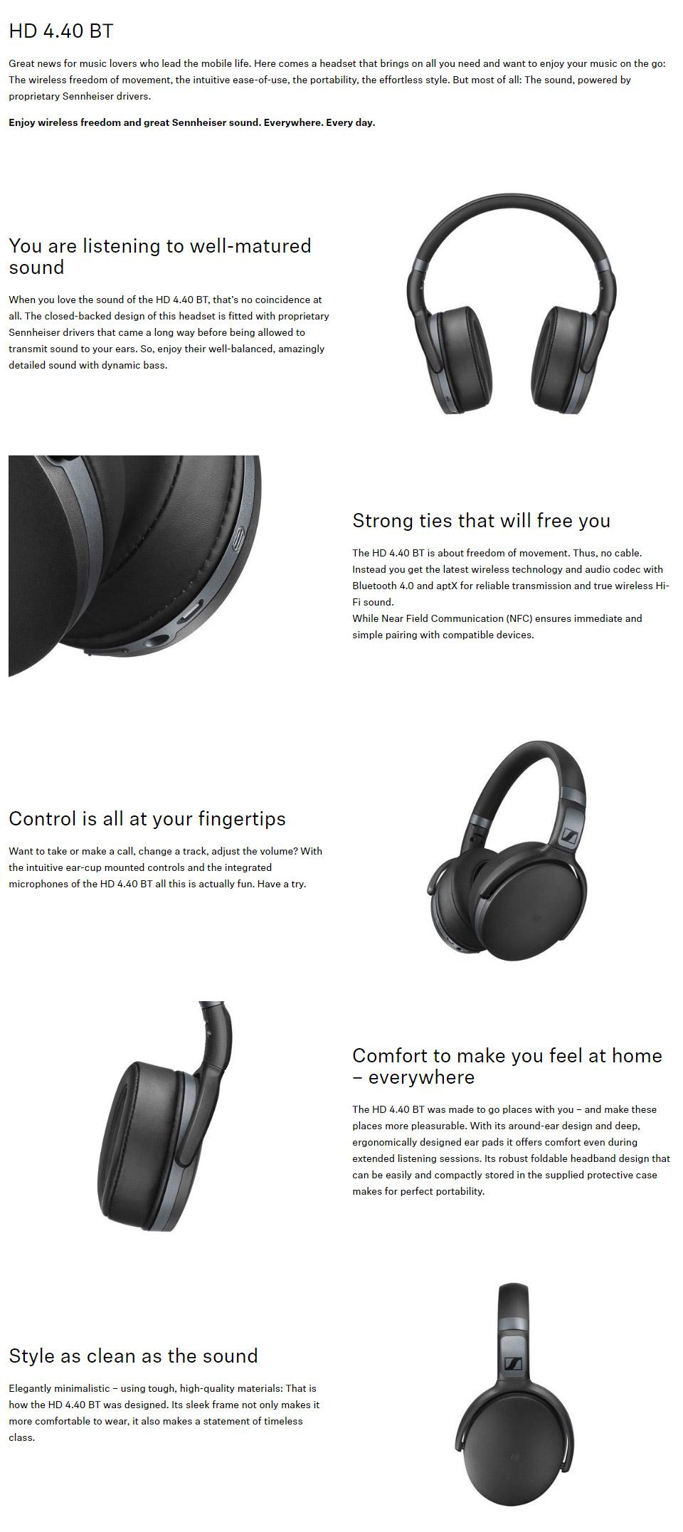 Sennheiser HD 4 40 BT Wireless Bluetooth Headphones