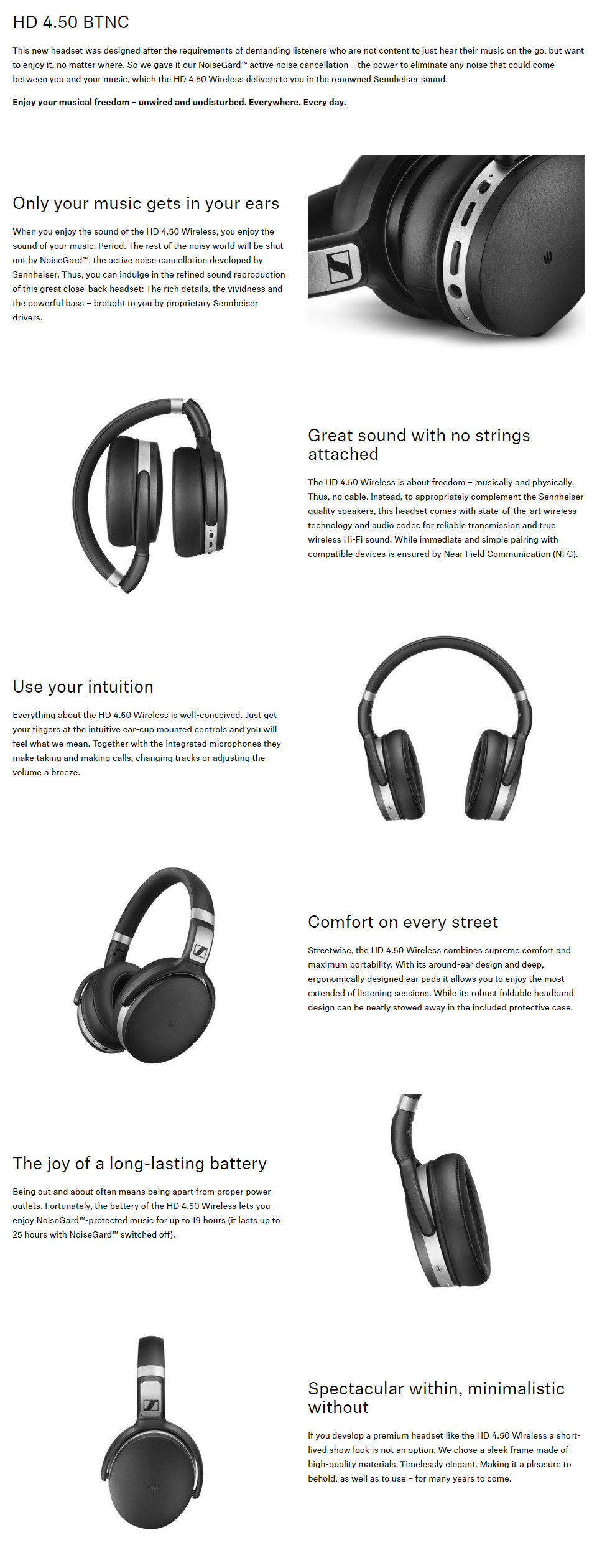 2a03152d065 But most of all, Sennheiser's NoiseGard active noise cancellation lets you  enjoy your music in peace – everywhere.