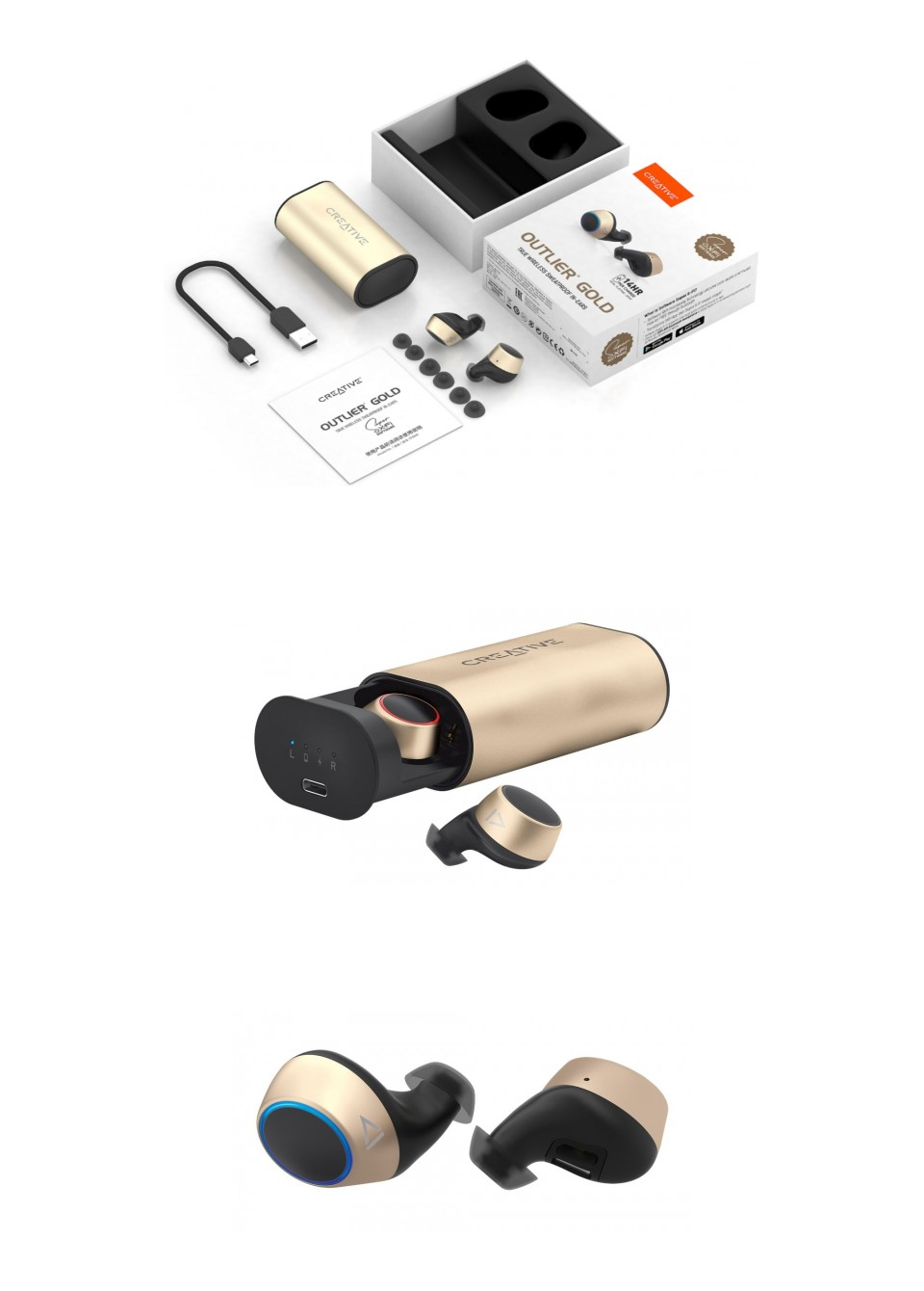 Creative Outlier Gold True Wireless In-Ear Headphones product