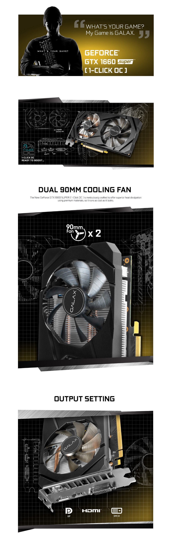 Galax GeForce GTX 1660 Super OC 6GB features