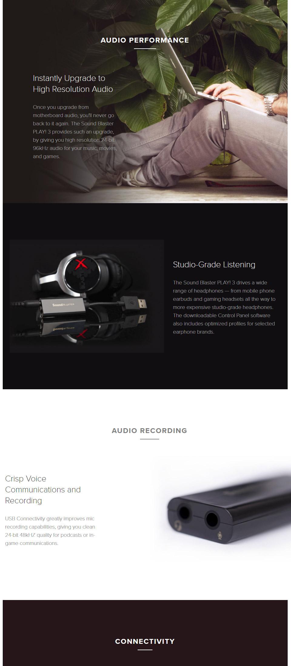 כרטיס קול חיצוני CREATIVE Sound Blaster PLAY! 3