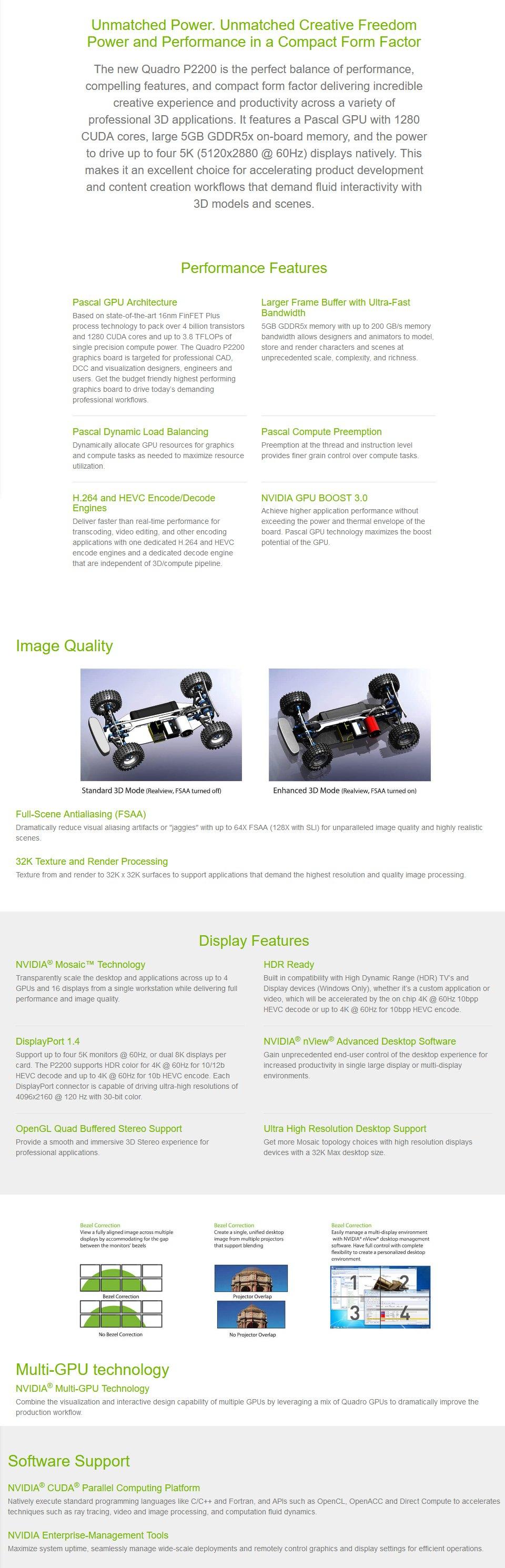 Leadtek Quadro P2200 5GB features