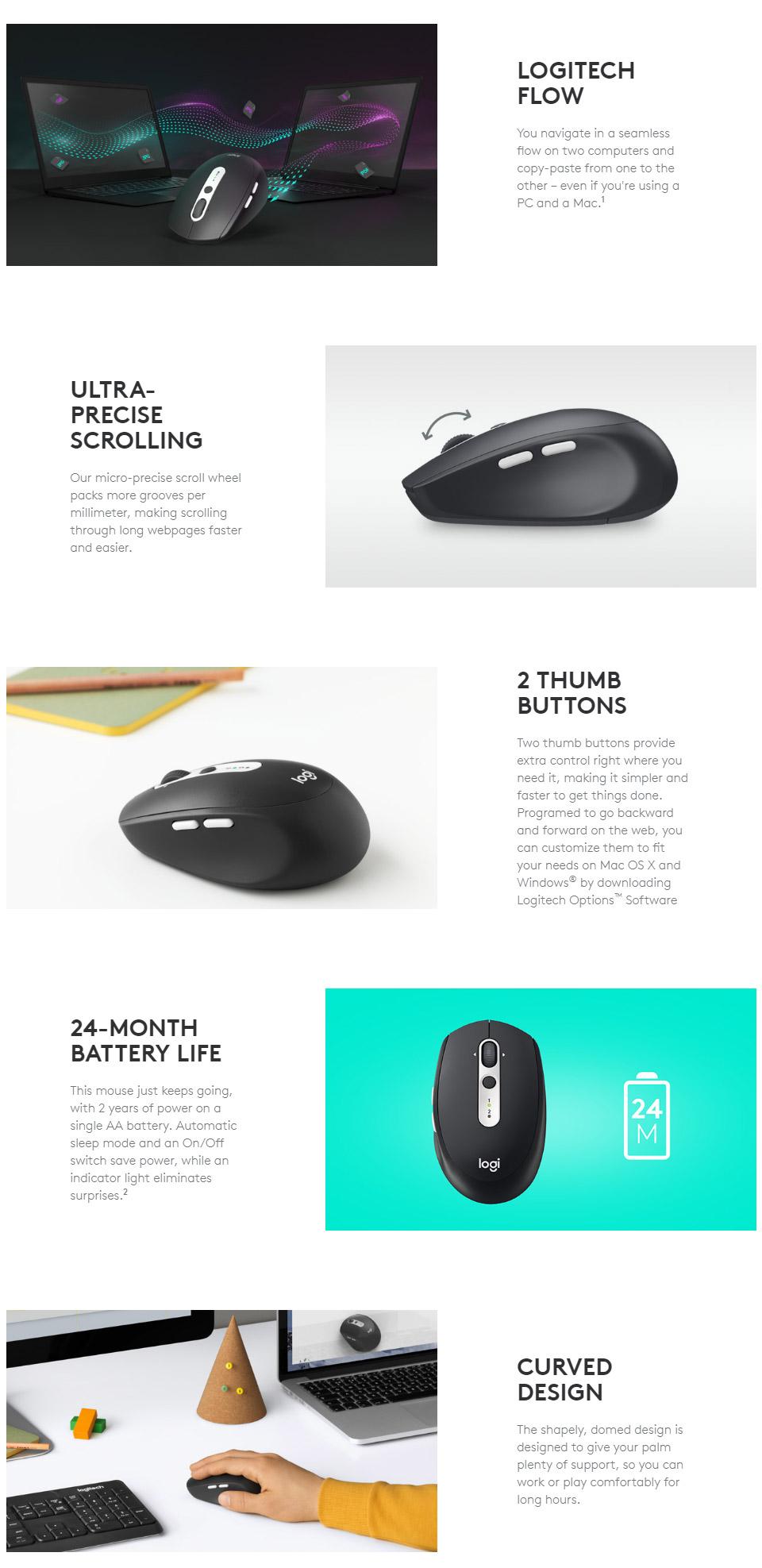 Logitech M585 Wireless Mouse - Graphite