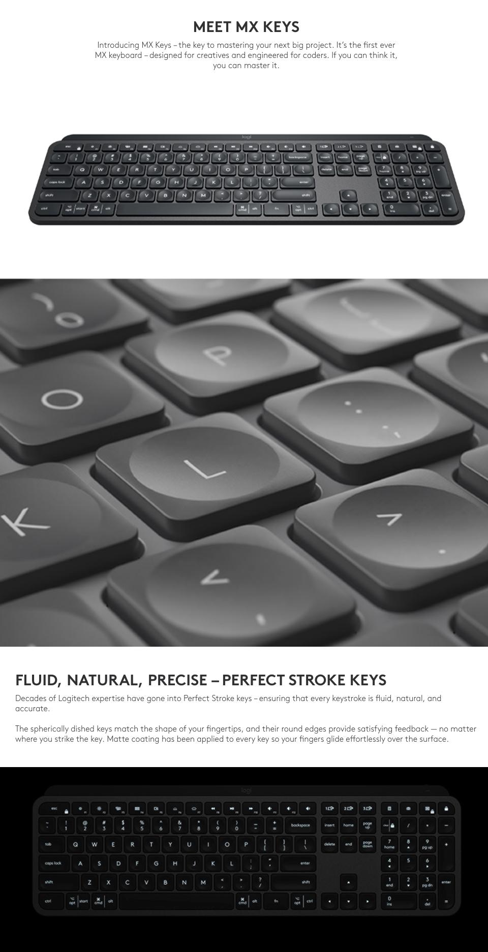 Buy Logitech Mx Keys Wireless Keyboard 920 009418 Pc Case Gear Australia