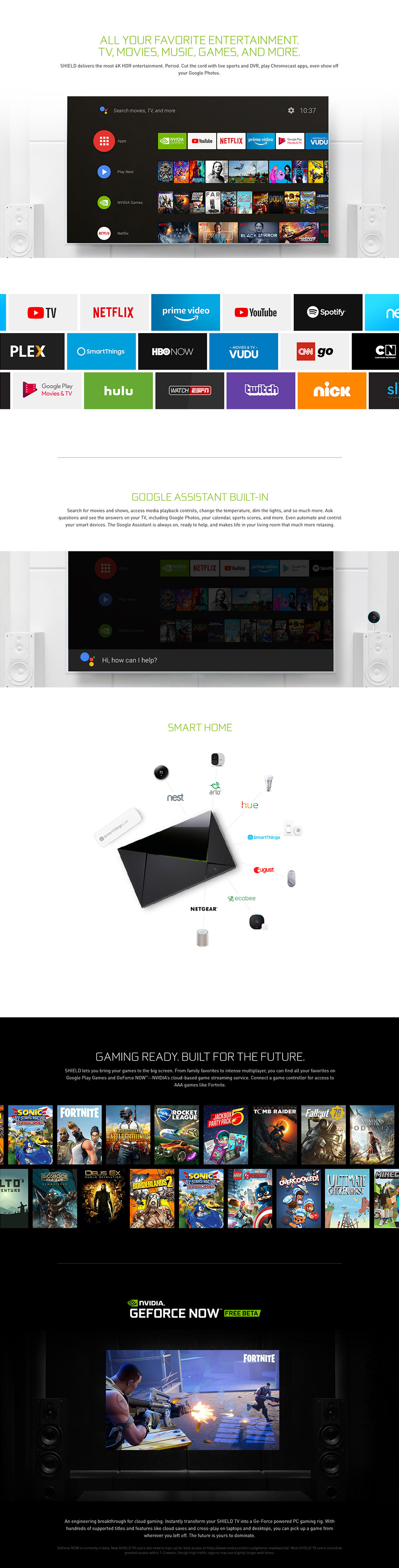 Nvidia Shield TV Pro features
