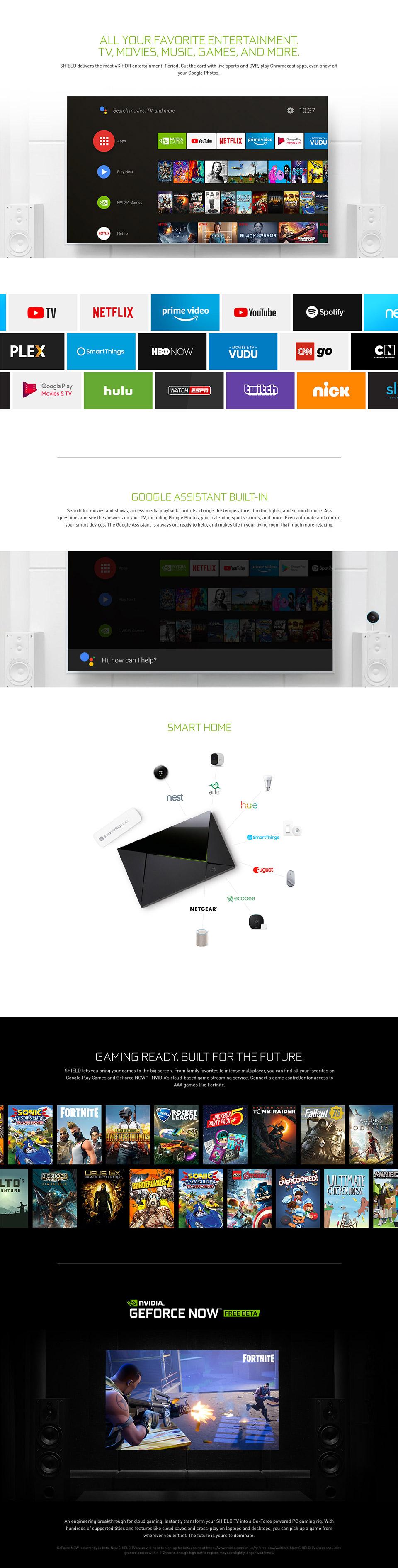 Nvidia Shield TV features 2