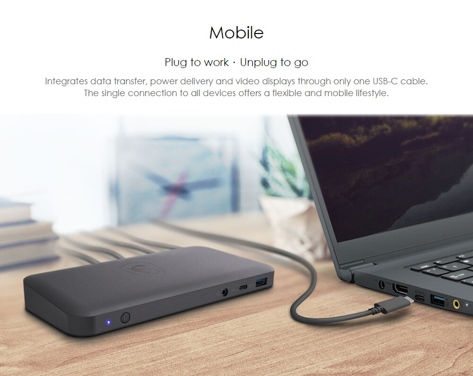 MSI USB-C Docking Station features 3