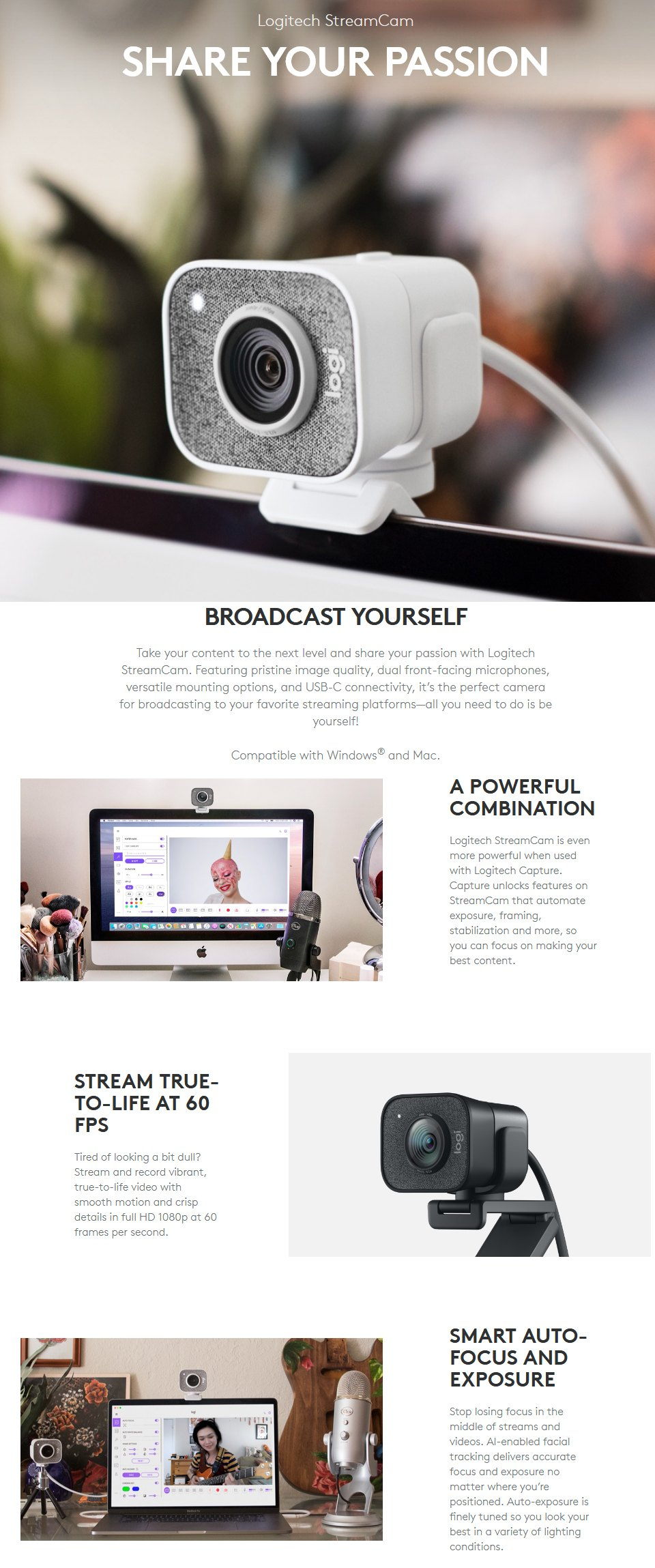 Logitech StreamCam White features