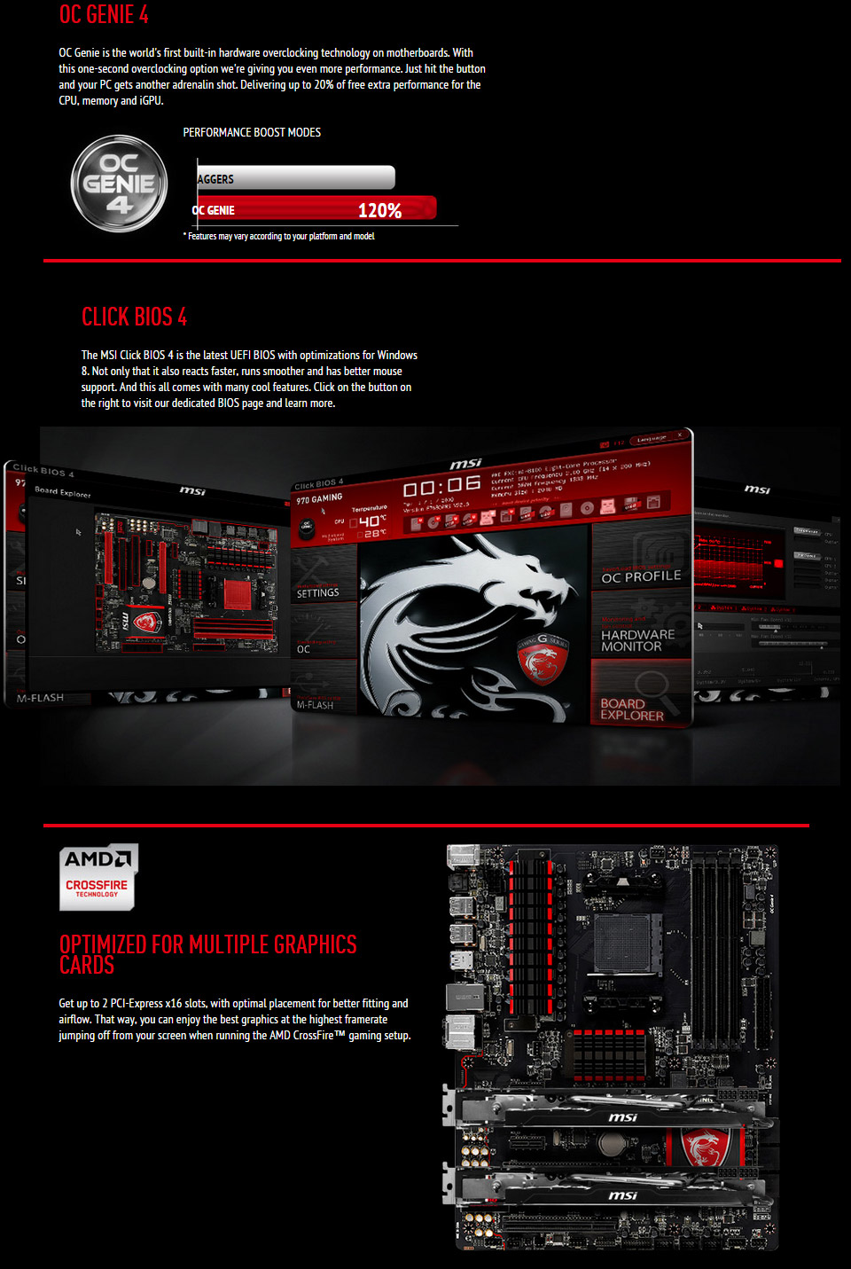 MSI 970 Gaming Motherboard [970-GAMING] : PC Case Gear