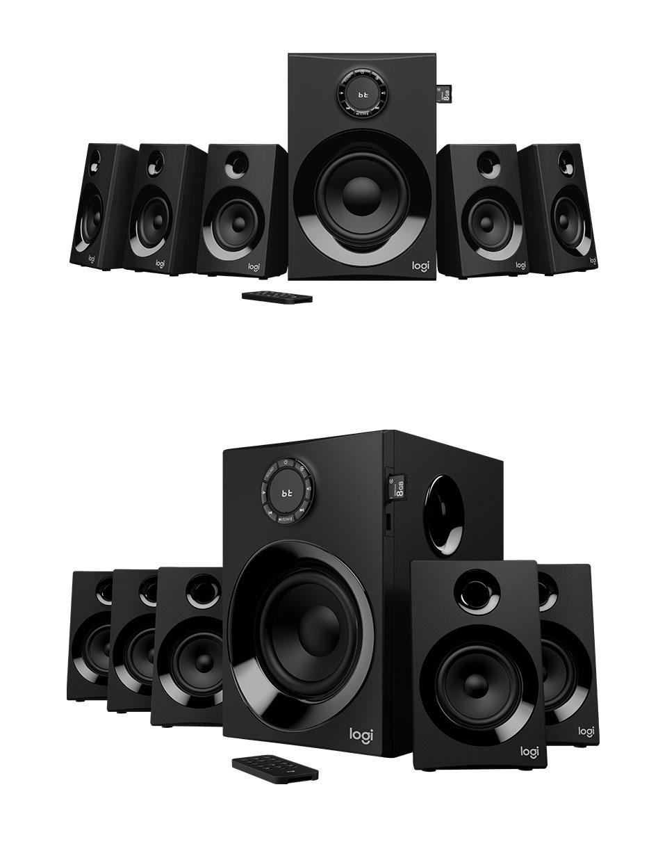 5f97d701a7f Logitech Z607 5.1 Surround Sound Speaker System with Bluetooth 980 ...