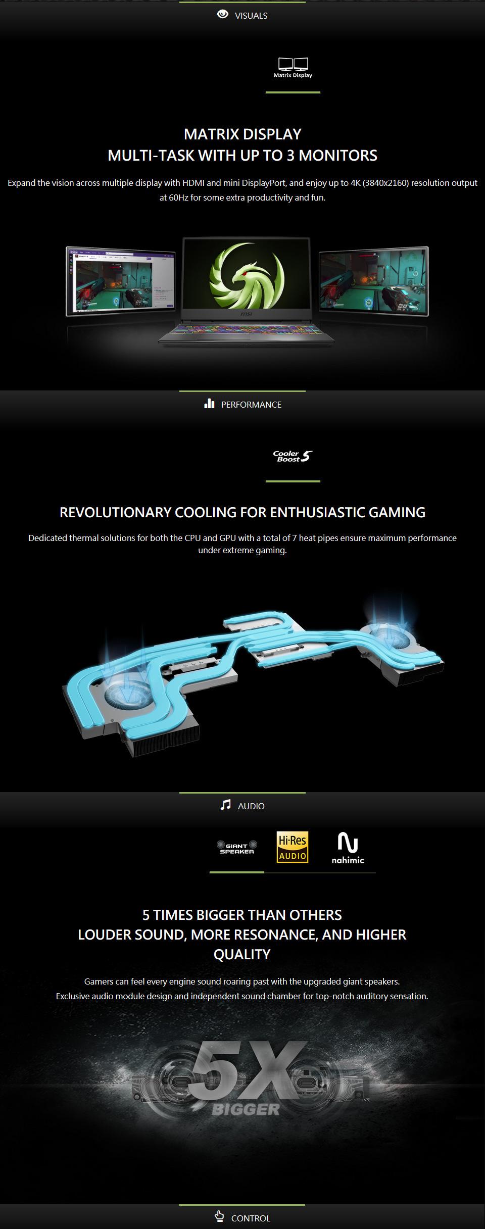 MSI Alpha AMD Ryzen 7 Radeon RX 5500M 15.6in 120Hz Laptop features 2