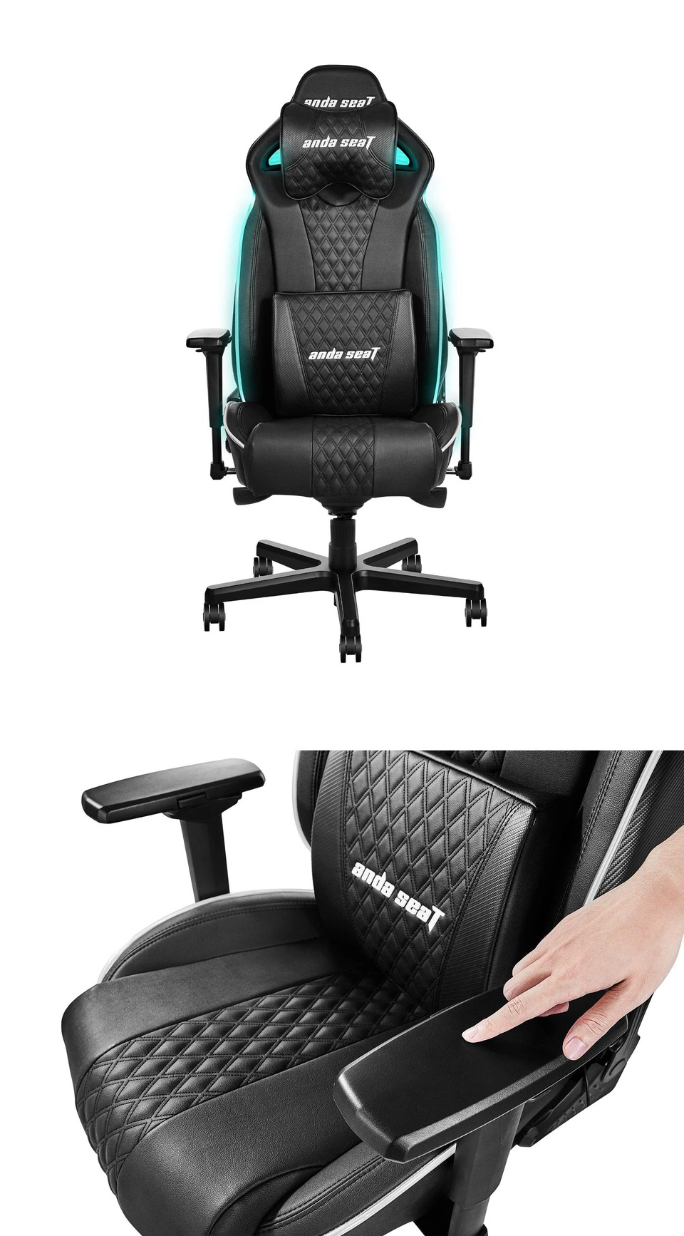 Anda Seat AD17-01 RGB Large Gaming Chair Black product