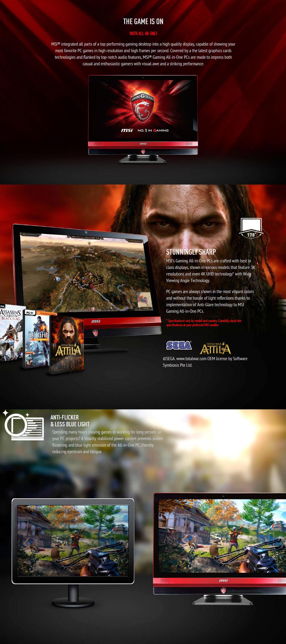 MSI AG24GE 24in Core i7 Windows 10 AIO Gaming PC [2QE-011XAU