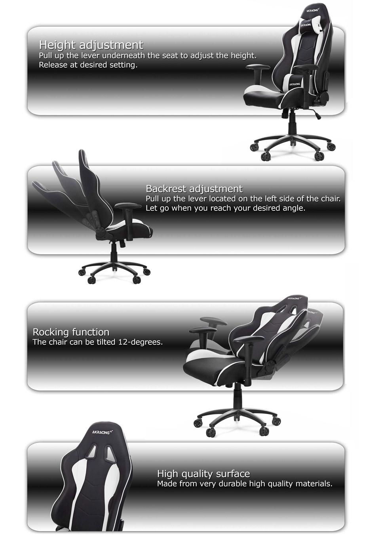 Remarkable Ak Racing Nitro Series Office Gaming Chair Black White Ak Theyellowbook Wood Chair Design Ideas Theyellowbookinfo
