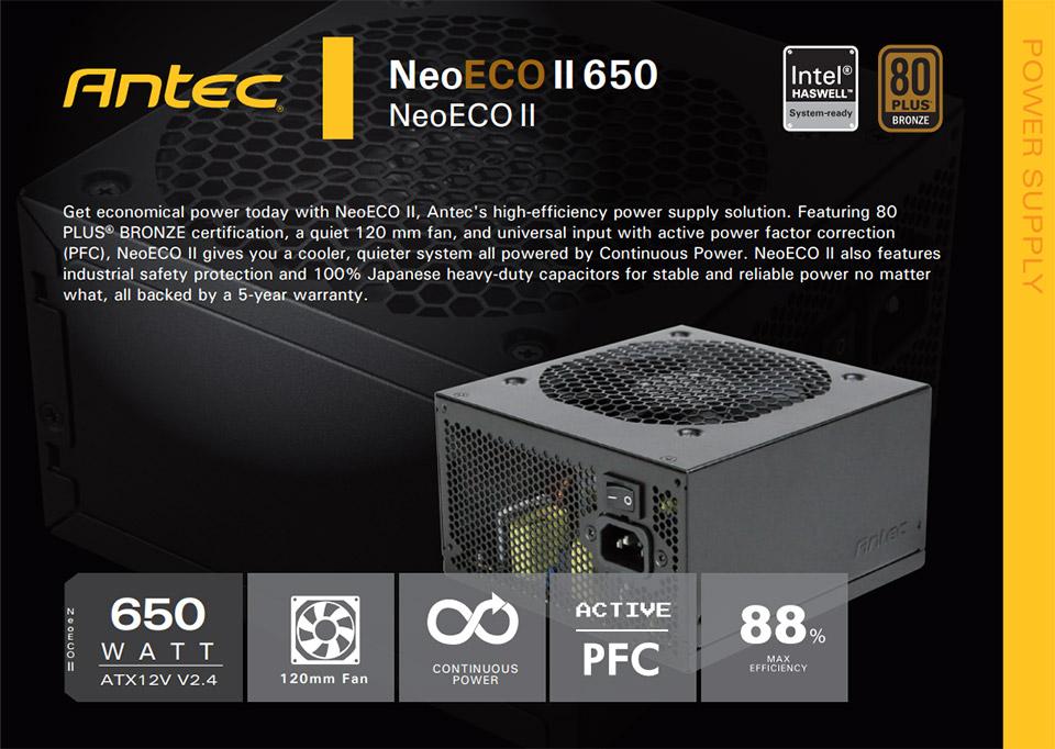 Antec Neo ECO II 650W Power Supply [ANT-PSU-NEOECOII650W