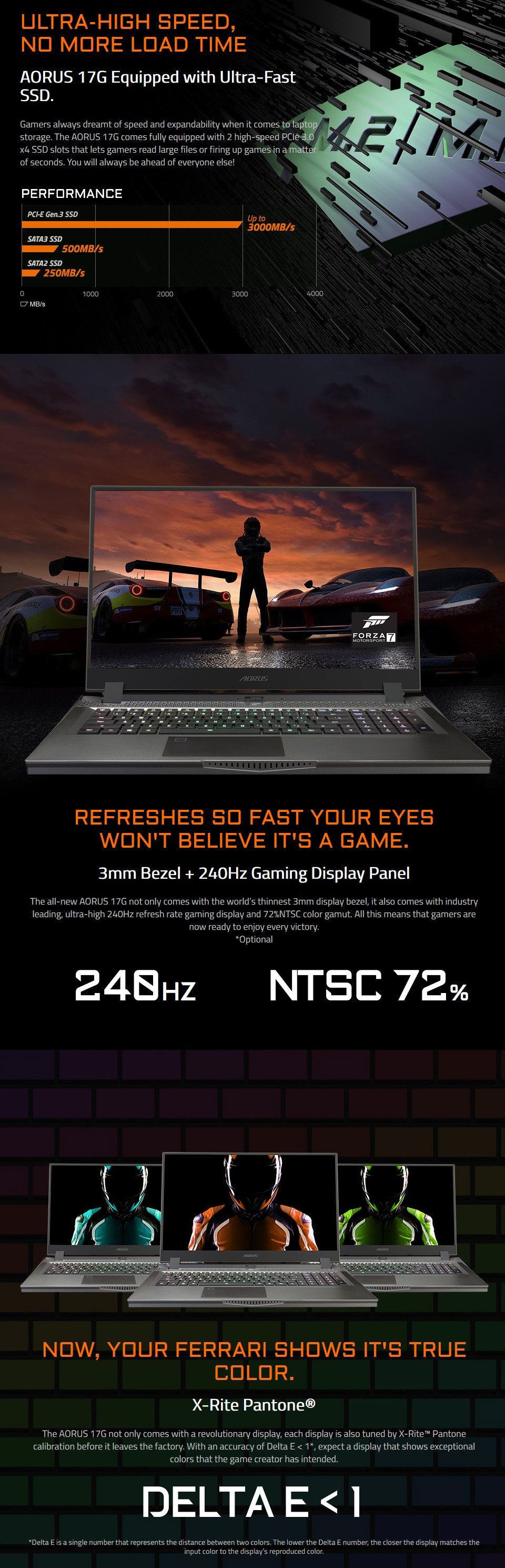 Gigabyte AORUS 17 Core i7 RTX 2060 17.3in 240Hz Gaming Laptop features 4