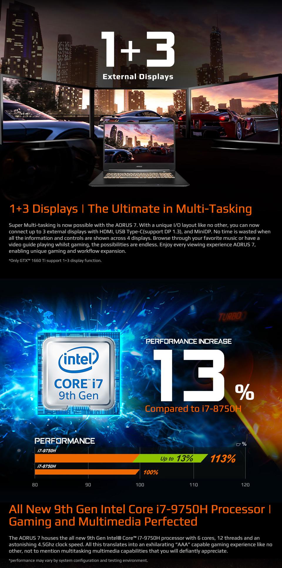 Gigabyte Aorus 7 Core i7 GTX 1660Ti 17.3in 144 Hz Notebook features 3