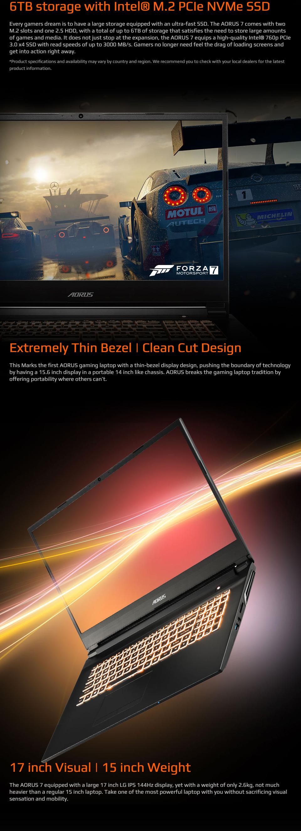Gigabyte Aorus 7 Core i7 GTX 1660Ti 17.3in 144 Hz Notebook features 5