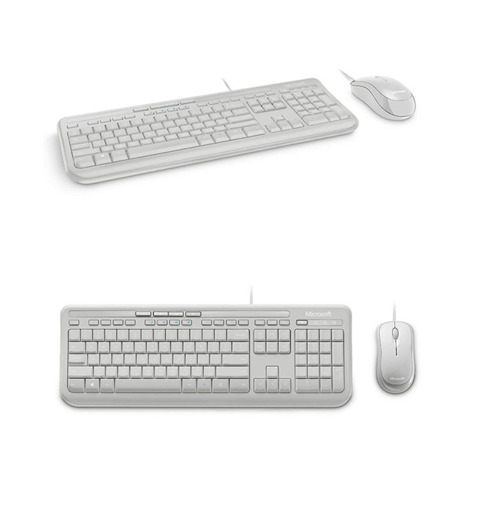 microsoft wired desktop 600 keyboard mouse combo white apb 00022 pc case gear. Black Bedroom Furniture Sets. Home Design Ideas