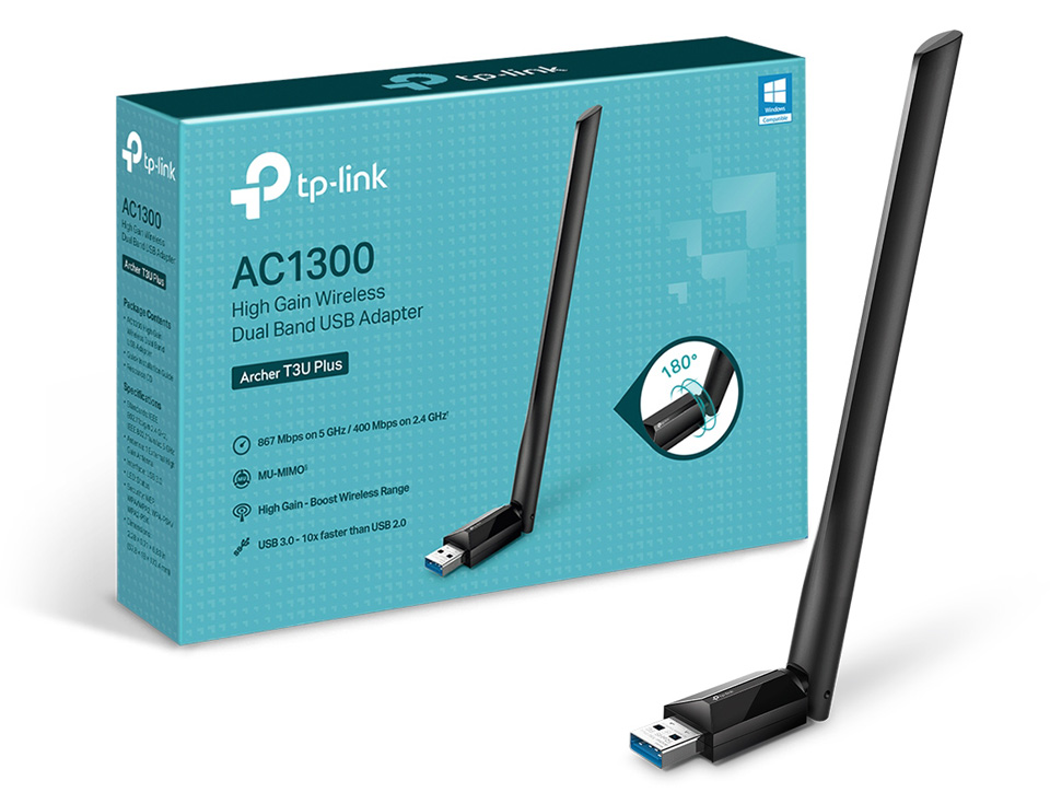 TP-Link Archer T3U Plus Dual Band Wireless AC1300 USB Adapter product