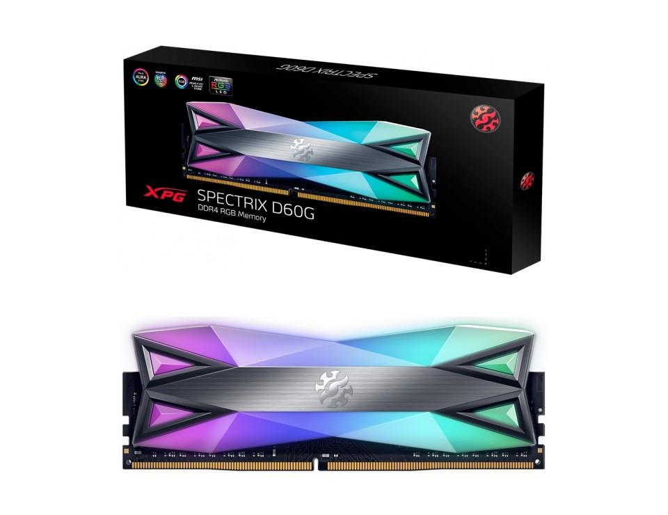 ADATA XPG Spectrix D60G RGB 16GB (2x8GB) 3600MHz CL18 DDR4 Grey product
