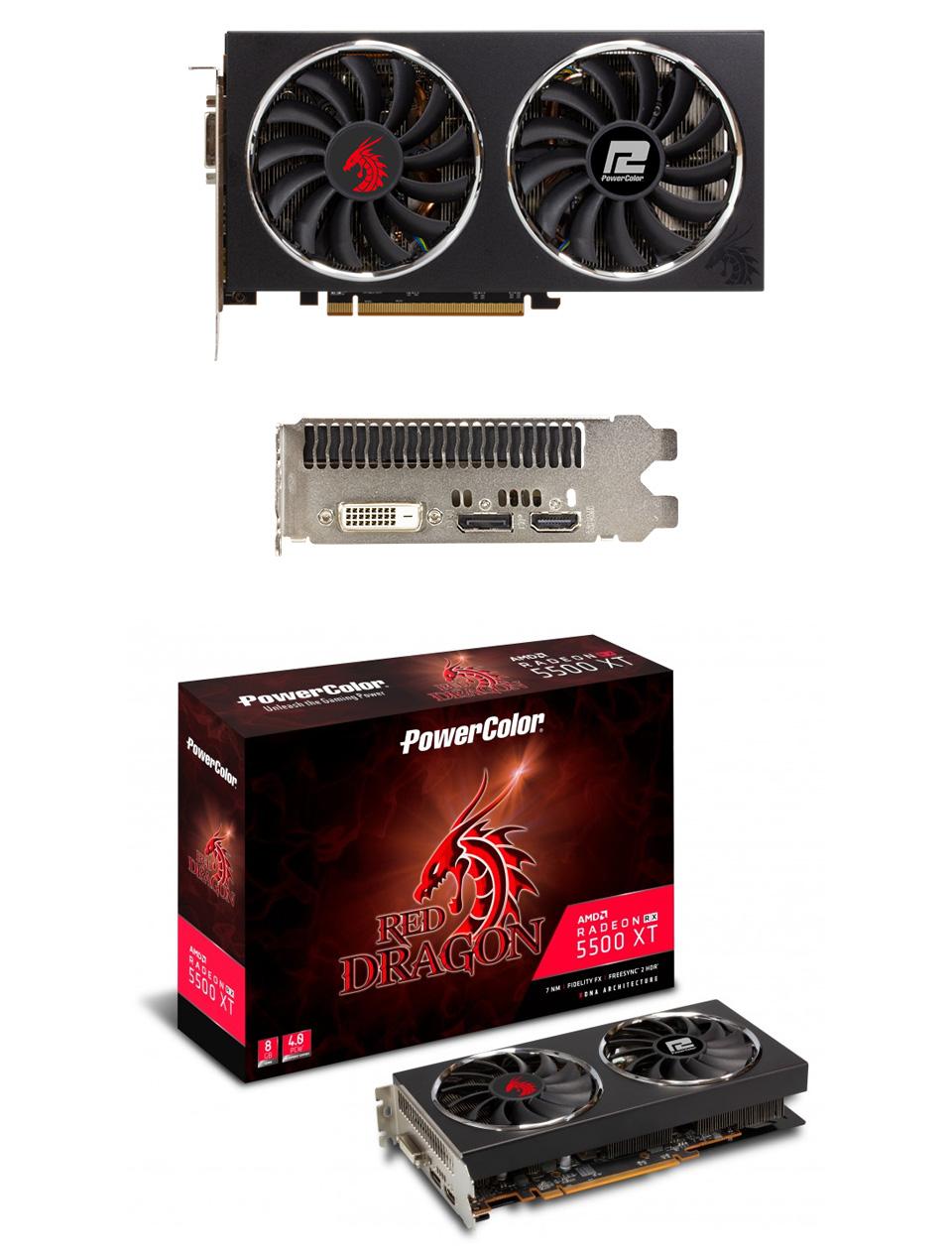 PowerColor Radeon RX 5500 XT Red Dragon 8GB product