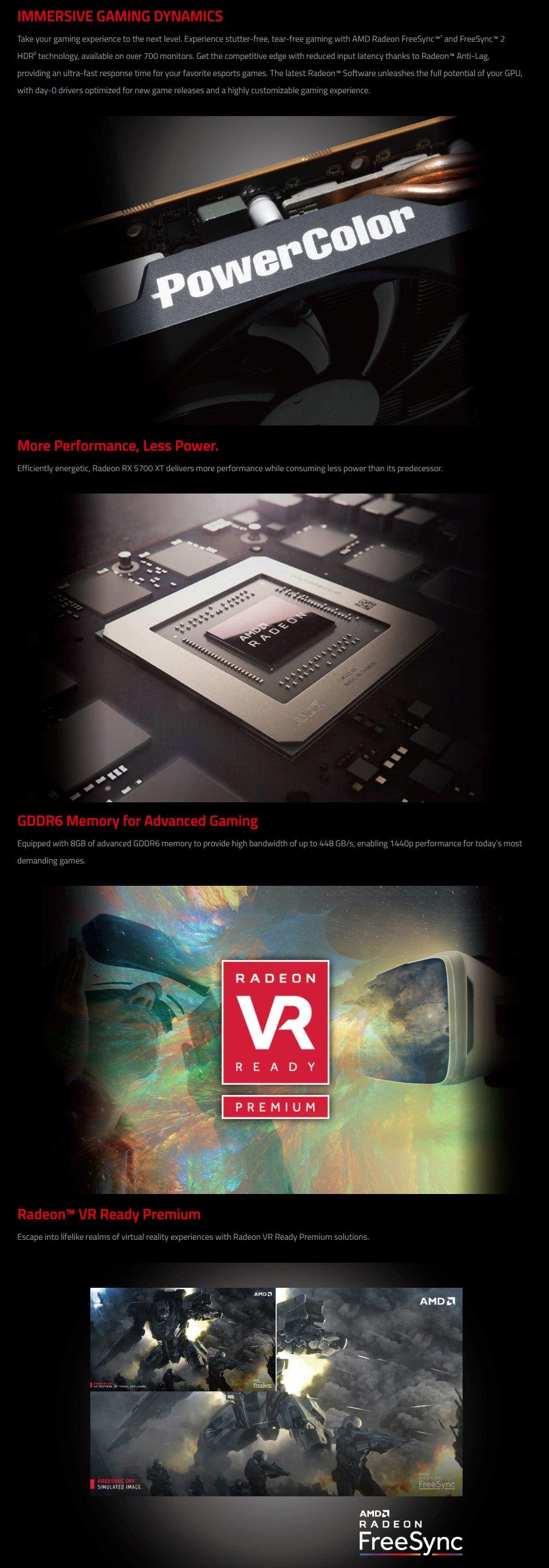 PowerColor Radeon RX 5700 XT 8GB features 2