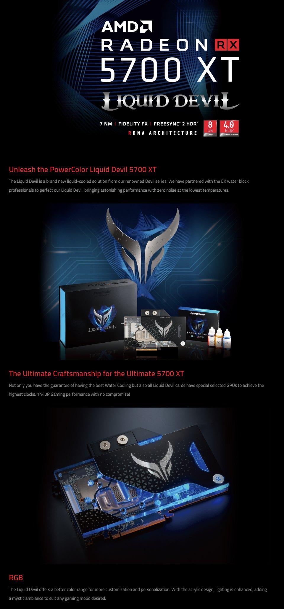PowerColor Radeon RX 5700 XT Liquid Devil 8GB features